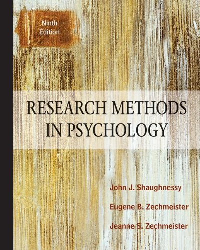 Research Methods in Psychology 9780078035180