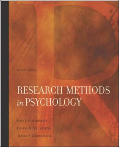 Research Methods in Psychology 9780072986228