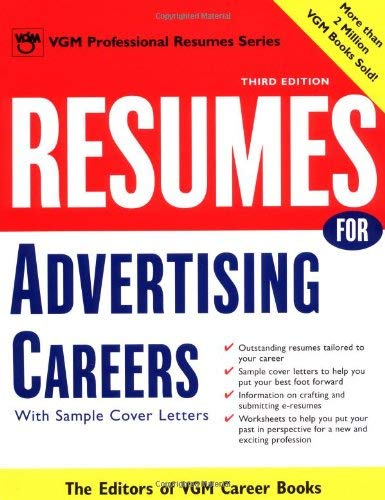Resumes for Advertising Careers: With Sample Cover Letters 9780071405928