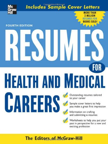 Resumes for Health and Medical Careers 9780071545358