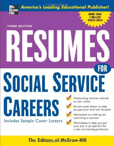 Resumes for Social Service Careers 9780071467810