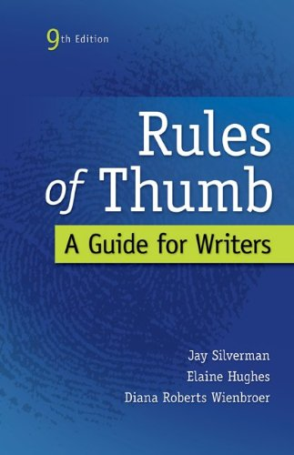 Rules of Thumb: A Guide for Writers 9780073405964