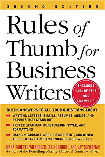 Rules of Thumb for Business Writers 9780071457576