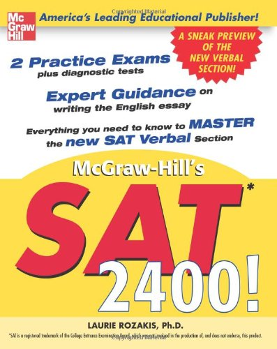 SAT 2400!: A Sneak Preview of the New SAT English Test 9780071416672