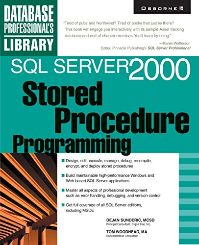 SQL Server 2000 Stored Procedure Programming 9780072125665