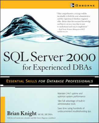 SQL Server 2000 for Experienced Dbas 9780072227888
