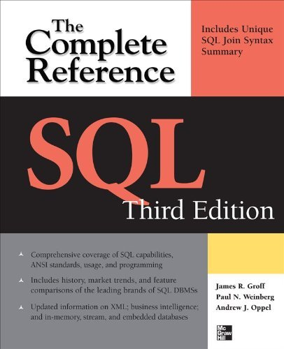 SQL the Complete Reference, 3rd Edition 9780071592550