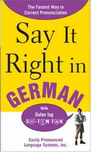 Say It Right in German 9780071469227
