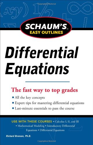 Schaum's Easy Outlines Differential Equations 9780071779814