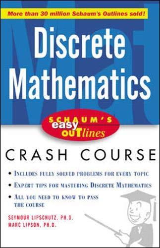 Schaum's Easy Outline of Discrete Mathematics 9780071398770