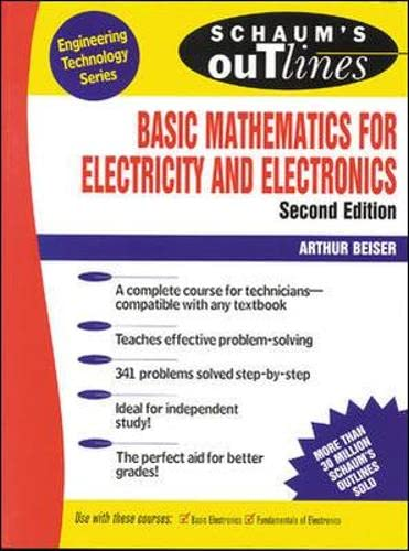 Schaum's Outline of Basic Mathematics for Electricity and Electronics 9780070044395