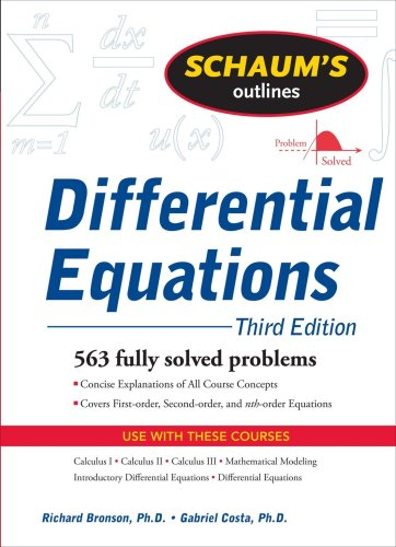 Schaum's Outline of Differential Equations 9780071611626
