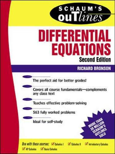 Schaum's Outline of Differential Equations 9780070080195