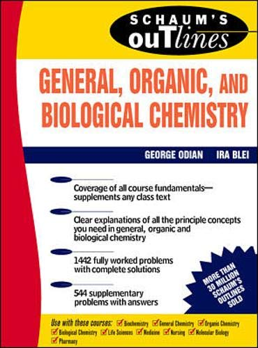 Schaum's Outline of General, Organic and Biological Chemistry 9780070476097
