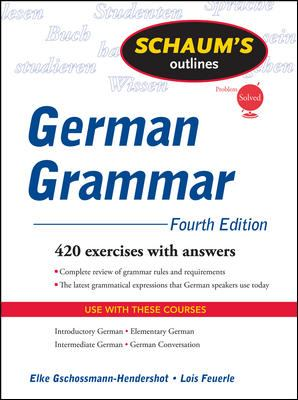 Schaum's Outline of German Grammar 9780071615679