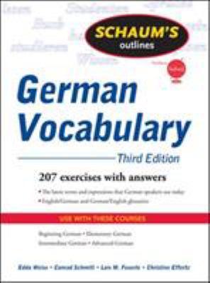 Schaum's Outline of German Vocabulary 9780071615471