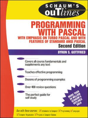 Schaum's Outline of Programming with Pascal 9780070239241