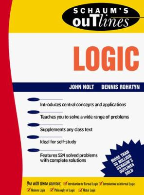 Schaum's Outline of Theory and Problems of Logic 9780070536289