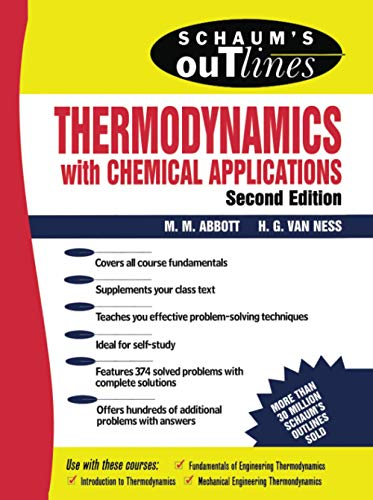 Schaum's Outline of Thermodynamics with Chemical Applications 9780070000421
