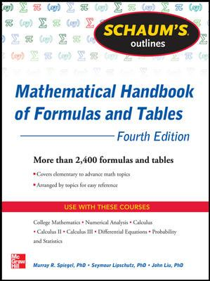 Schaum's Outlines: Mathematical Handbook of Formulas and Tables 9780071548557