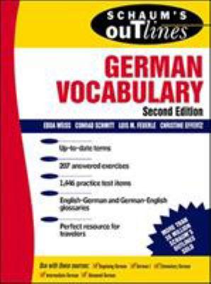 Schaum's Outlines of German Vocabulary 9780070711174