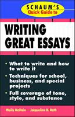Schaum's Quick Guide to Writing Great Essays 9780070471702