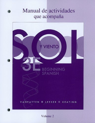 Sol y Viento, Volume 2: Beginning Spanish 9780077397784