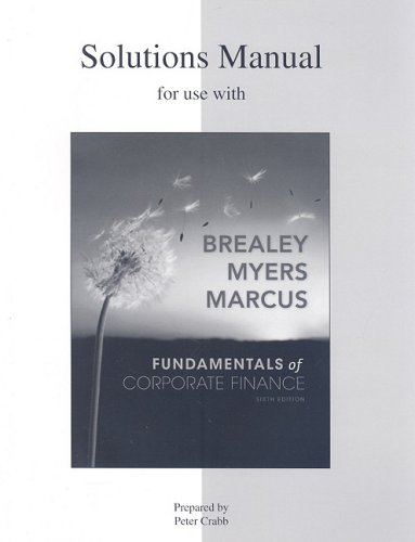 solutions to chapter 15 brealey myers corporate finance Brealey - principles of corporate finance - 11e, solutions manual and test bank 0078034760 the jones family, incorporated minicase solution principles of corporate.