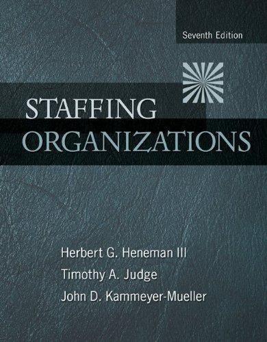 Staffing Organizations 9780078112683