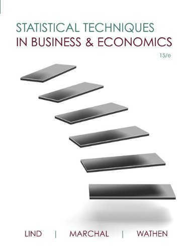 Statistical Techniques in Business and Economics 9780073401805