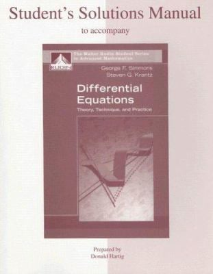 Students solutions manual to accompany differential equations students solutions manual to accompany differential equations theory technique and practice fandeluxe Gallery