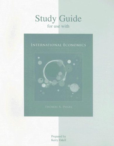 Study Guide for Use with International Economics 9780073523033