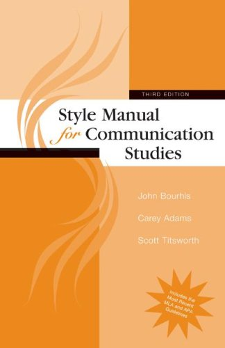 Style Manual for Communication Studies 9780073385051