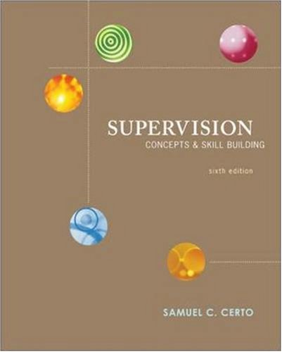 Supervision: Concepts and Skill-Building 9780073405001
