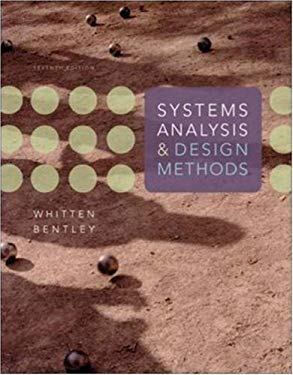 Systems Analysis and Design Methods 9780073052335