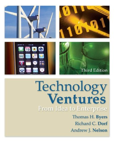 Technology Ventures: From Idea to Enterprise 9780073380186