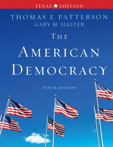The American Democracy, Texas Edition 9780077339067