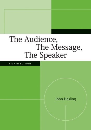 The Audience, the Message, the Speaker 9780073385044