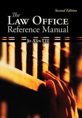 The Law Office Reference Manual the Law Office Reference Manual