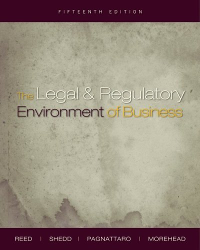 The Legal and Regulatory Environment of Business 9780073377667