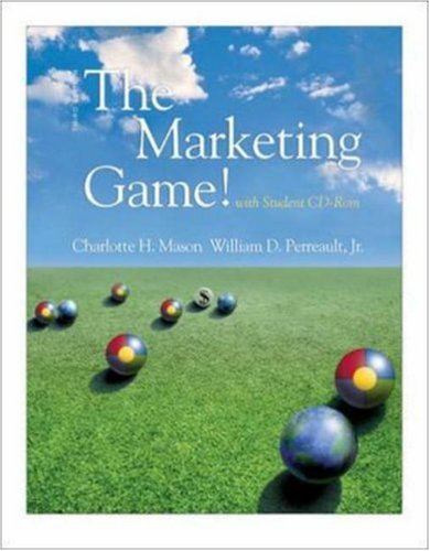 The Marketing Game! (with Student CD ROM) [With CDROM] 9780072513806