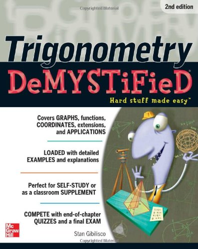 Trigonometry Demystified 2/E 9780071780247