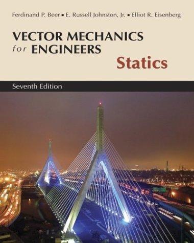 Vector Mechanics for Engineers, Statics 9780072930788