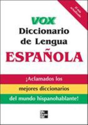 Vox Diccionario de Lengua Espanola 9780071549837