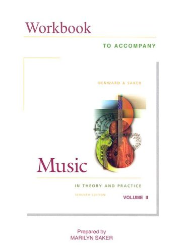 Workbook to Accompany Music in Theory and Practice: Volume II [With CD-ROM] 9780072845358