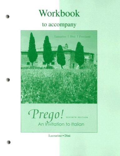 Workbook to Accompany Prego! Seventh Edition: An Invitation to Italian 9780073266763