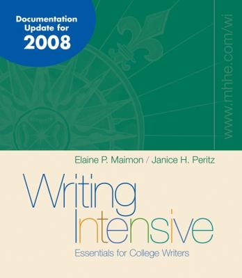 Writing Intensive, MLA / APA / CSE Update 9780073327686