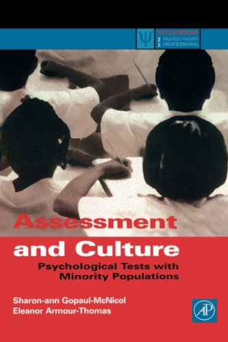 Assessment and Culture: Psychological Tests with Minority Populations 9780122904516