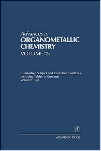 Cumulative Subject and Contributor Indexes Including Tables of Contents, and a Comprehesive Keyword Index for Volumes 1-44: Cumulative Subject and Aut 9780120311453