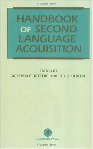 Handbook of Second Language Acquisition 9780125890427